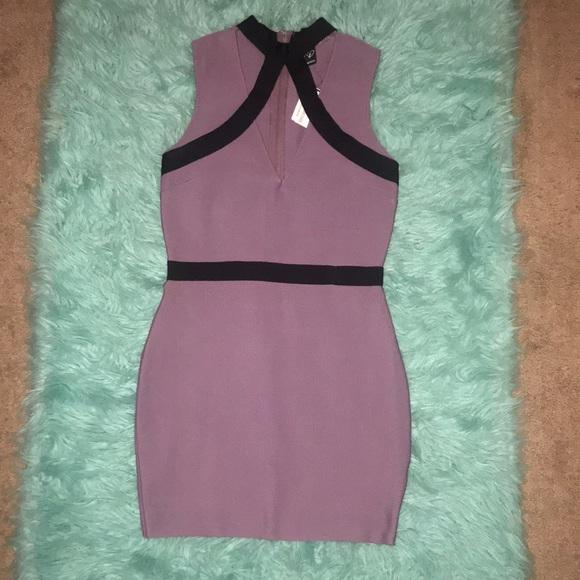NWT Windsor plum & black mini dress | size L
